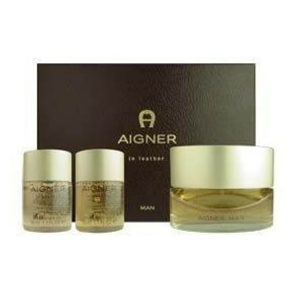Aigner In Leather Man Set EDT-Showergel-Aftershave