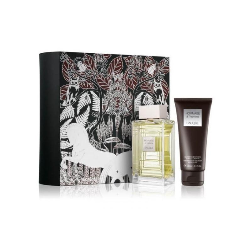 Lalique Hommage a L'Homme Set EDT-Douchegel