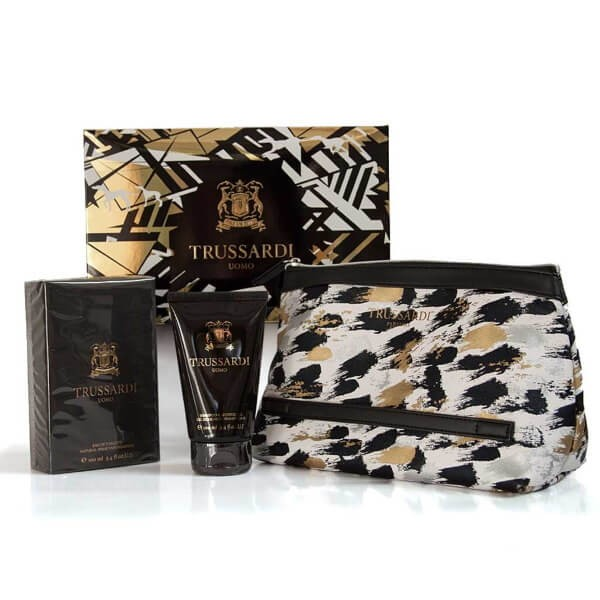 Trussardi Uomo Set EDT-Douchegel-Toilettas